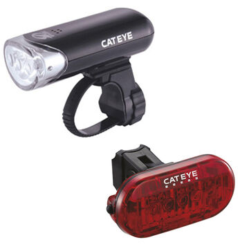 CATEYE Cateye El135 Front Light & Omni 5 Rear Light Set
