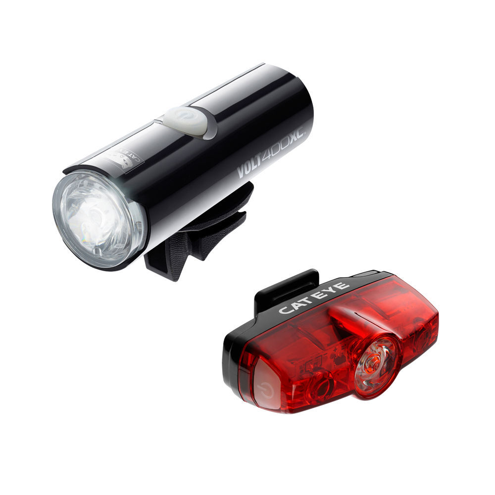 CATEYE Cateye Volt 400 Xc Front Light & Rapid Mini Rear Usb Rechargeable Light Set click to zoom image