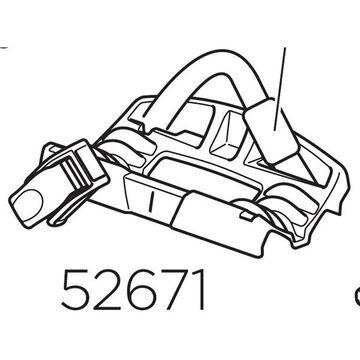 THULE 52671 598 Wheel holder and strap rear