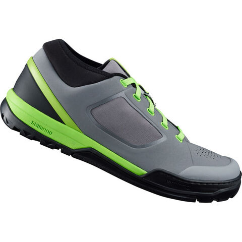 SHIMANO SHOES GR7 (GR700) flat pedal MTB shoes, grey/green