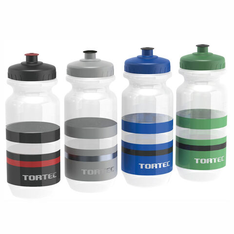 TORTEC Jet Water Bottle 710ml  CLEAR/BLACK/RED  click to zoom image