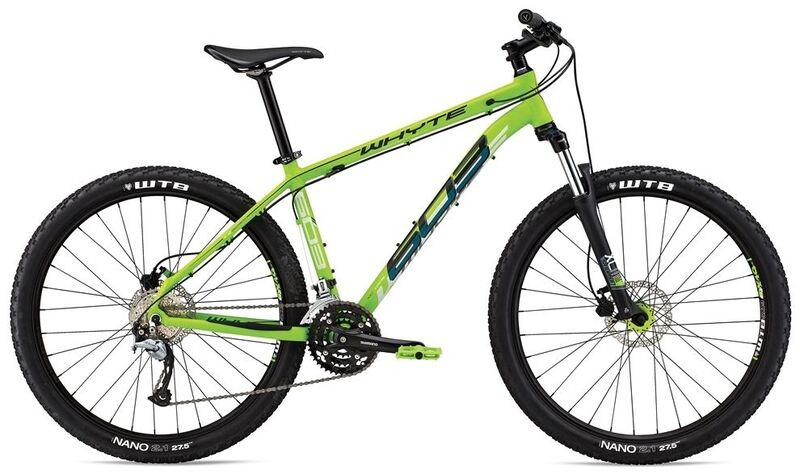 "WHYTE 603 27.5"" Front Suspension Mountain Bike S Matt Apple with Grey/Teal  click to zoom image"
