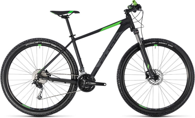 "CUBE Aim SL 27.5 14"" black/flashgreen  click to zoom image"