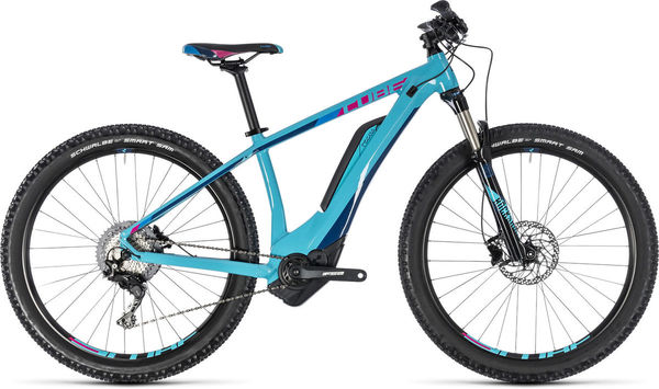 "CUBE Access Hybrid Race 500 14"" turq./pink  click to zoom image"