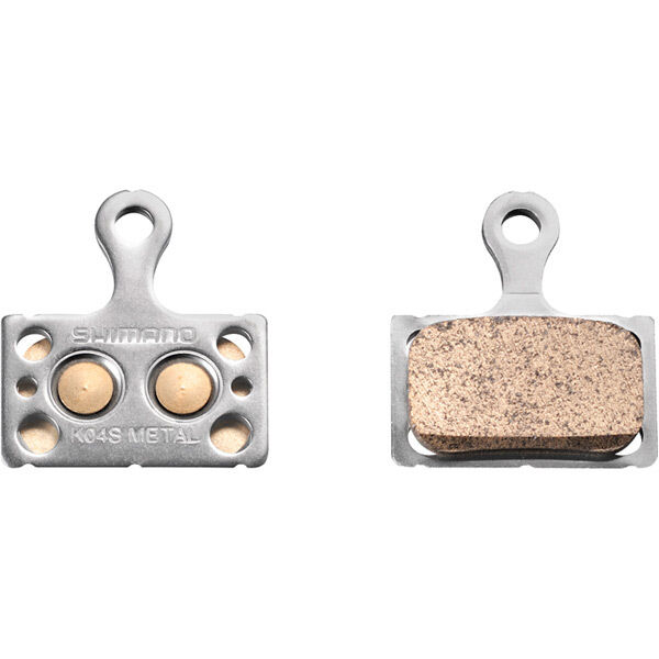 SHIMANO K04S disc brake pads, steel backed, metal sintered click to zoom image