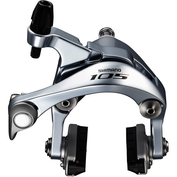SHIMANO BR-5800 105 brake callipers, 49mm drop, silver, front click to zoom image