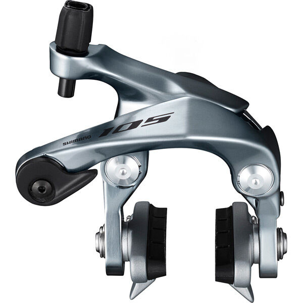 SHIMANO BR-R7000 105 brake callipers, 49 mm drop, silver, front click to zoom image