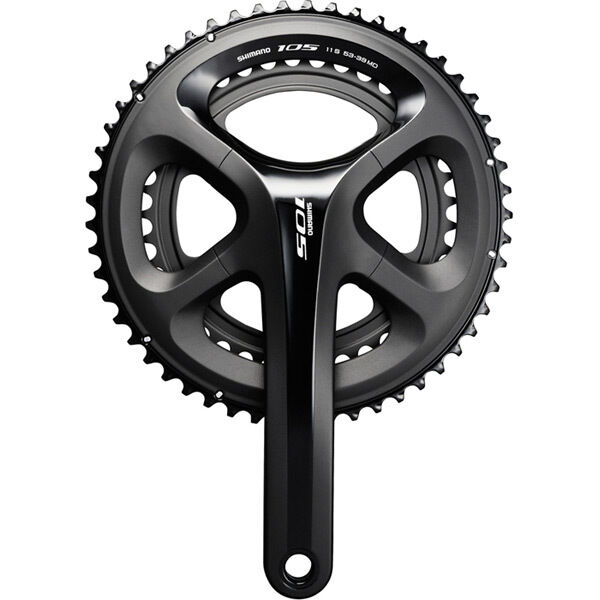 SHIMANO FC-5800 105 double chainset, HollowTech II black click to zoom image