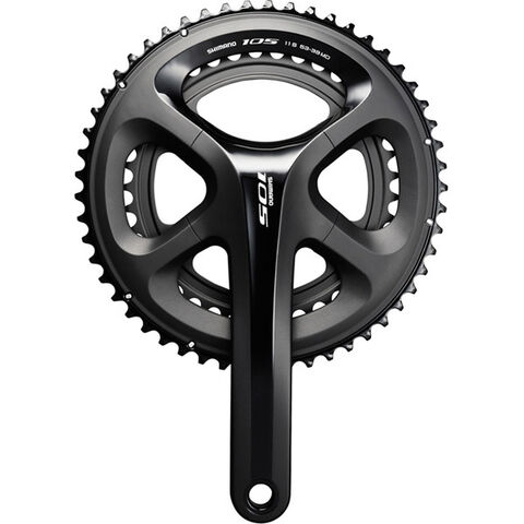 SHIMANO FC-5800 105 double chainset, HollowTech II black