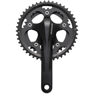 SHIMANO FC-CX50 cyclocross chainset, 10speed 2-piece design black