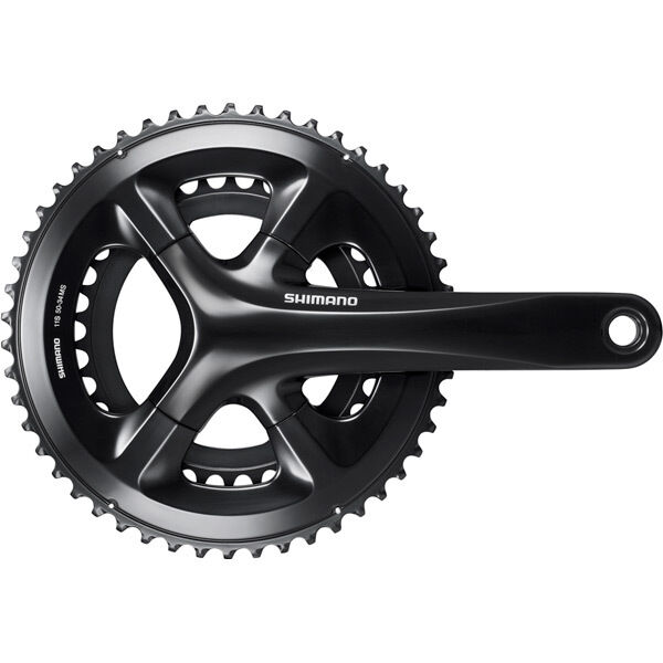 SHIMANO FC-RS510 double chainset, 50/34T, for 135/142 mm axle, 172.5 mm, black click to zoom image