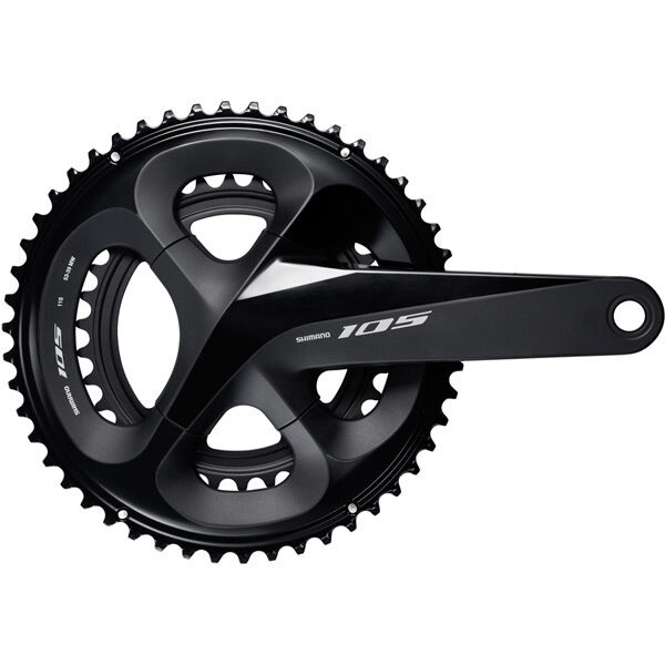 SHIMANO FC-R7000 105 double chainset, HollowTech II 165 mm 52 / 36T, black click to zoom image