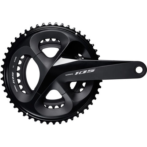 SHIMANO FC-R7000 105 double chainset, HollowTech II 165 mm 53 / 39T, black