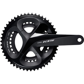 SHIMANO FC-R7000 105 double chainset, HollowTech II 172.5 mm 52 / 36T, black