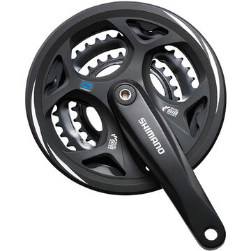 SHIMANO FC-M311 Altus square taper chainset, with chainguard