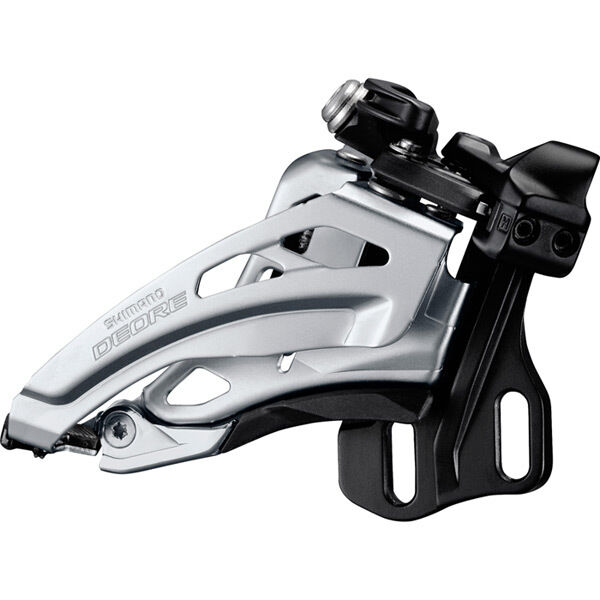 SHIMANO Deore M617-E double front derailleur, E-type, side swing, front pull click to zoom image