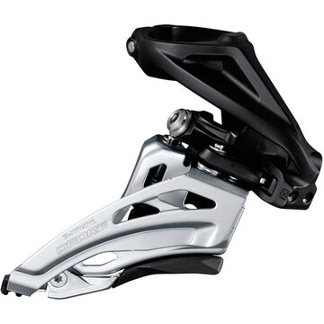 SHIMANO Deore M617-H double front derailleur, high clamp, side swing, front pull