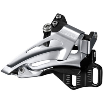 SHIMANO Deore M618-E double front derailleur, E-type, top swing, dual pull