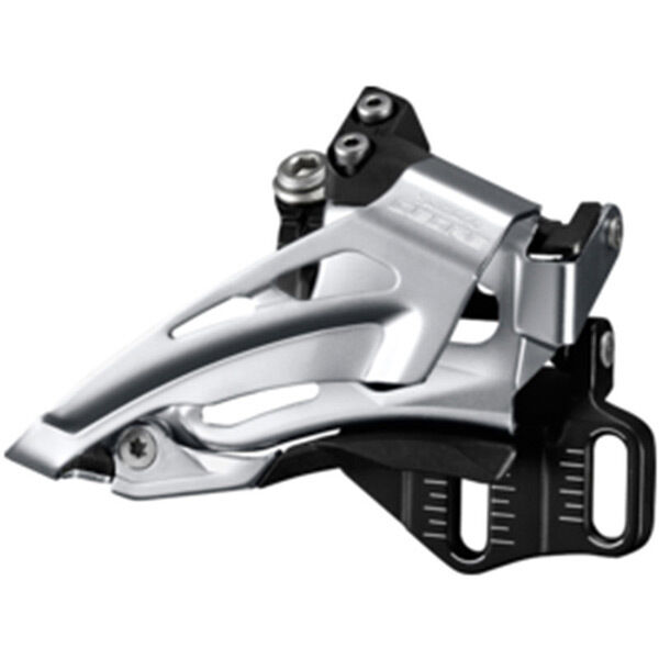 SHIMANO Deore M618-E double front derailleur, E-type, top swing, dual pull click to zoom image