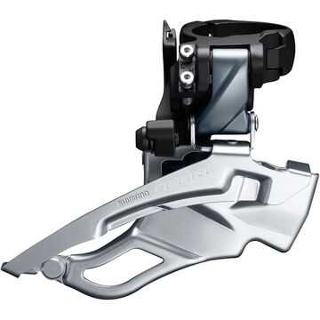 SHIMANO Deore T6000-H triple front derailleur, conventional swing, dual pull, 63-66