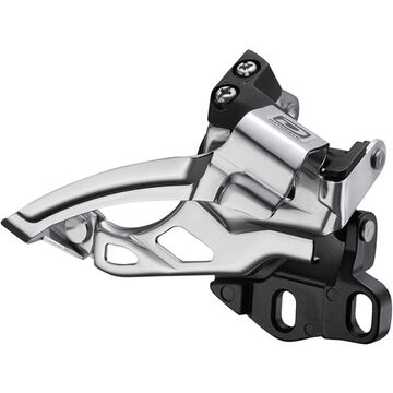 SHIMANO FD-M615-E2 Deore 10-speed double front derailleur, dual-pull, E-type