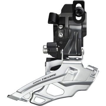 SHIMANO FD-M616 Deore 10-speed double front derailleur, top-pull, direct-fit, black