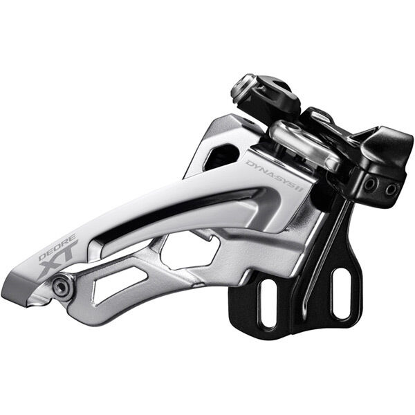 SHIMANO Deore XT M8000-H triple front derailleur, high clamp, side swing, front pull click to zoom image