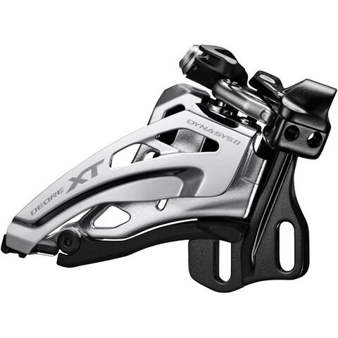 SHIMANO Deore XT M8025-E double front derailleur, E-type, top swing, down-pull