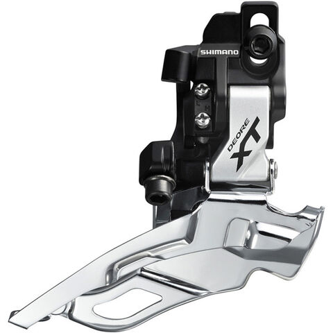 SHIMANO FD-M781-A XT 10-speed triple front derailleur, direct-fit, top-pull, silver