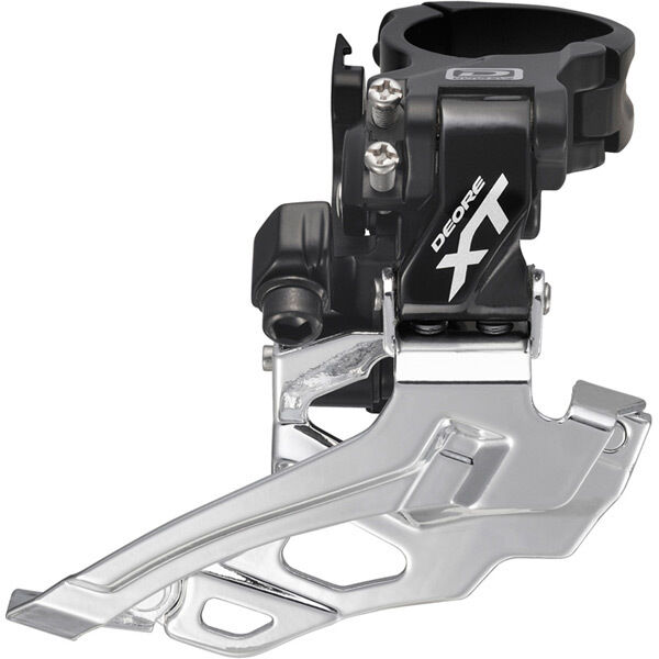 SHIMANO FD-M786 XT 10-speed double front derailleur, conventional swing, black click to zoom image