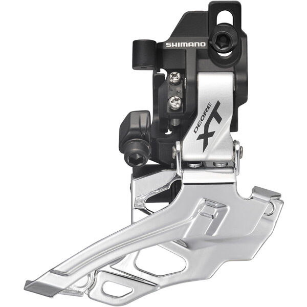 SHIMANO FD-M786 XT 10-speed double front derailleur, direct-fit, dual-pull, silver click to zoom image