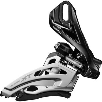 SHIMANO Deore XT M8025-D double front derailleur, direct mount, down swing, dual-pull