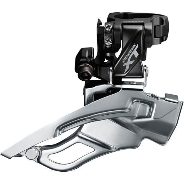 SHIMANO FD-T8000-H XT triple front derailleur, 10-speed, conventional swing, 63-66 deg click to zoom image