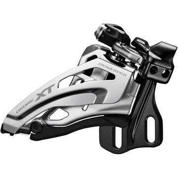SHIMANO Deore XT M8020-E double front derailleur, E-type, side swing, front pull