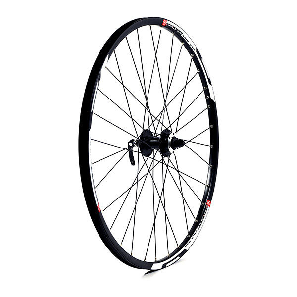 M-PART 27.5 x 1.75 alloy 6 bolt disc brake only QR axle 100mm black front wheel click to zoom image