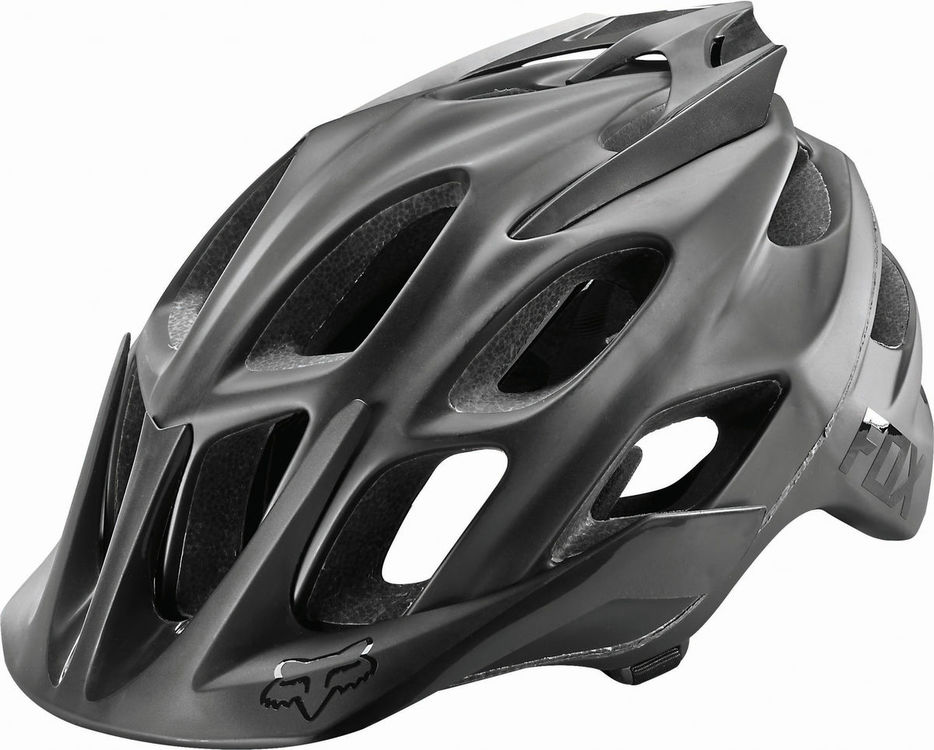 FOX RACING Flux Matte Black Helmet click to zoom image