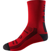 "FOX RACING Trail Socks (8"") S/M Bright Red  click to zoom image"
