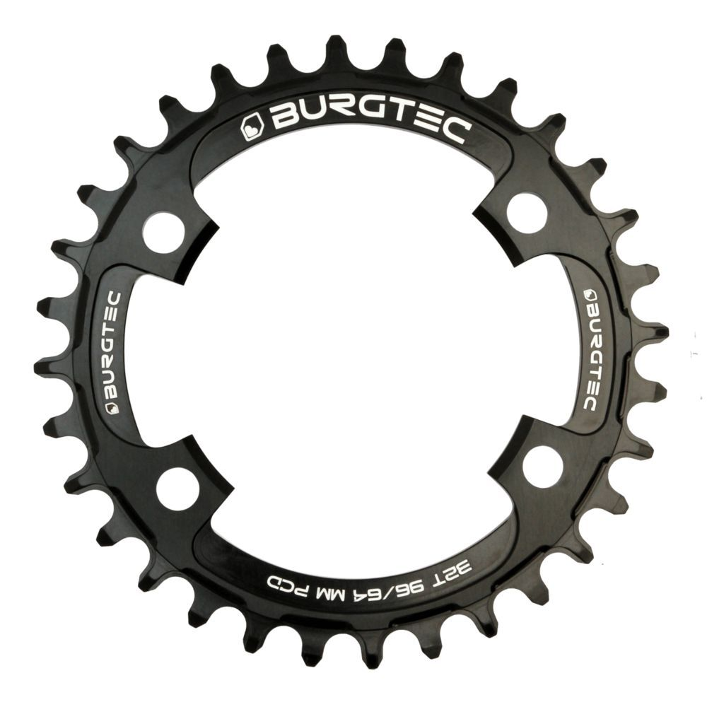 BURGTEC 96/64mm PCD Thick Thin Chainring click to zoom image
