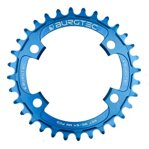 BURGTEC 96/64mm PCD Thick Thin Chainring 30T Deep Blue  click to zoom image