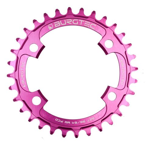 BURGTEC 96/64mm PCD Thick Thin Chainring 30T Purple Rain  click to zoom image