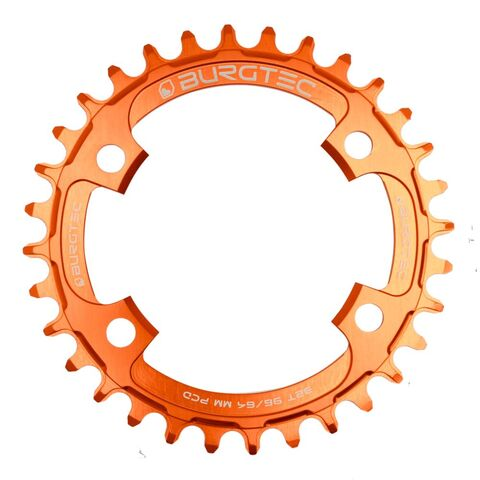 BURGTEC 96/64mm PCD Thick Thin Chainring 30T Iron Bro Orange  click to zoom image