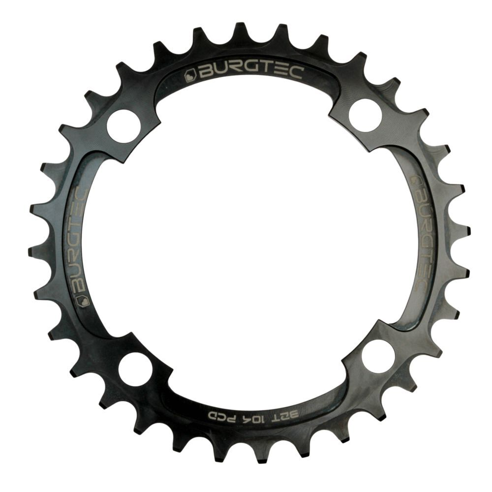 BURGTEC 104 BCD Thick Thin Chainring click to zoom image