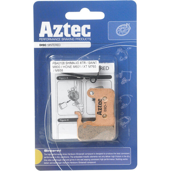 AZTEC Sintered disc brake pads for Shimano Deore M555 hydraulic / C900 Nexave click to zoom image