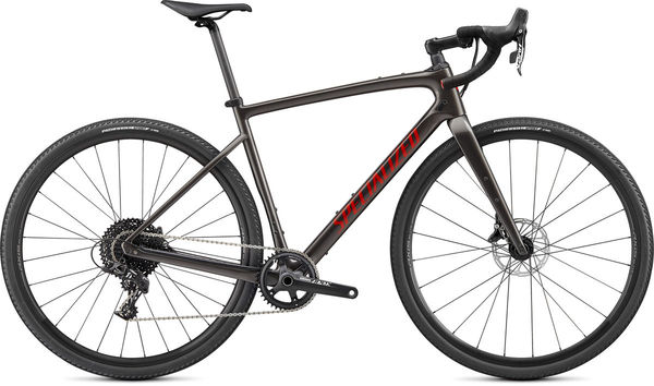 SPECIALIZED Diverge Base Carbon 44 Gloss Smoke/Redwood/Chrome/Clean  click to zoom image