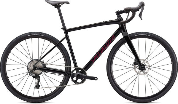 SPECIALIZED Diverge Comp E5 49 Gloss Tarmac Black/Satin Maroon/Chrome/Clean  click to zoom image
