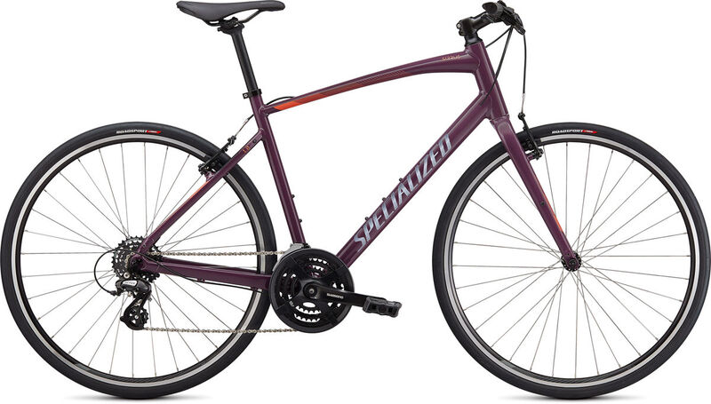 SPECIALIZED Sirrus 1.0 XXS GLOSS CAST LILAC / VIVID CORAL / SATIN BLACK REFLE  click to zoom image