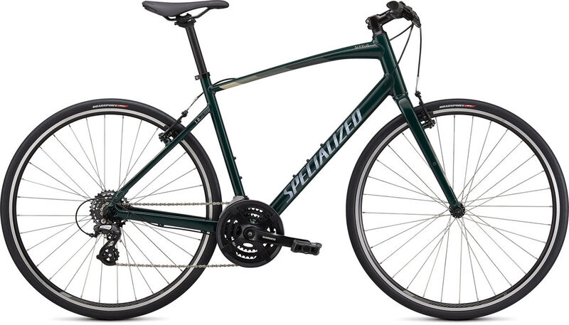 SPECIALIZED Sirrus 1.0 XXS GLOSS FOREST GREEN / WHITE MOUNTAINS / SATIN BLACK  click to zoom image