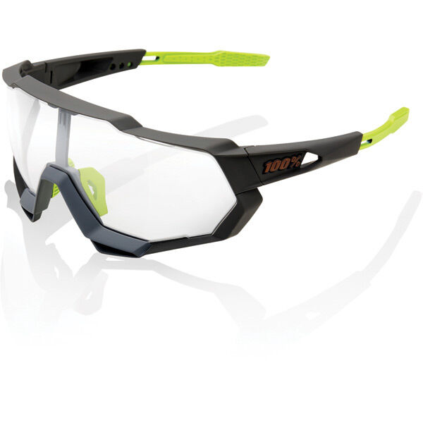 100% Speedtrap - Soft Tact Cool Grey - Photochromic Lens click to zoom image