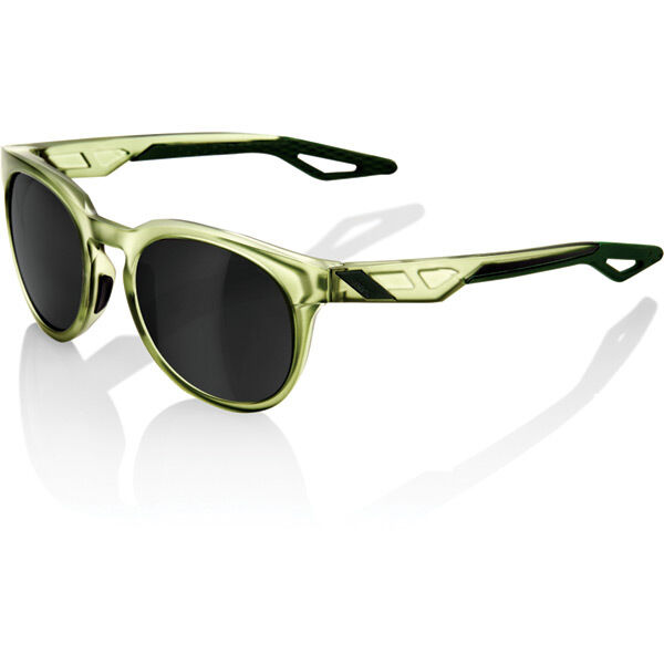 100% Campo - Matte Translucent Olive Slate - Black Mirror Lens click to zoom image