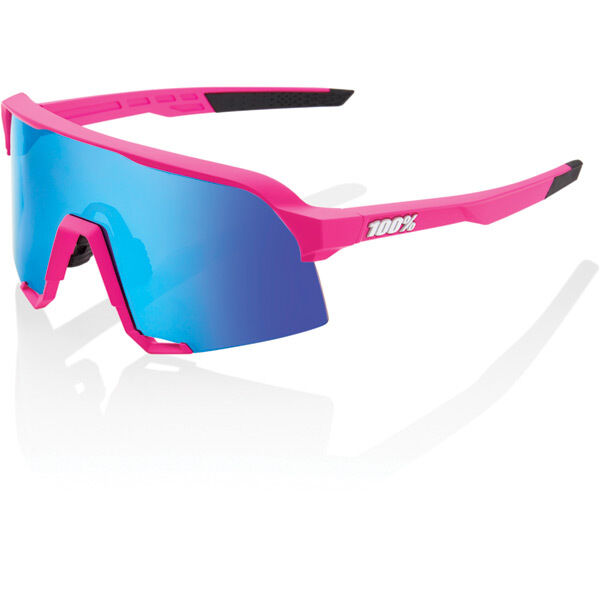 100% S3 - Matt Pink - HiPER Blue Multilayer Mirror Lens click to zoom image